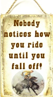 Nobody notices how you ride