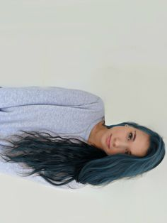 awesome subtle blue hair