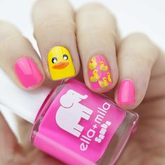 Rubber Ducky Day Nails | Nail that Accent!
