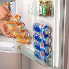 Cans Storage Box Refrigerator Organizer Sauce Bottle Container Four Case Organization