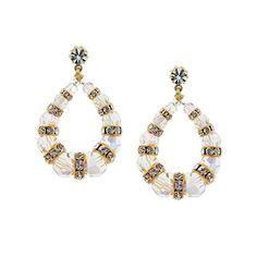 Beaded Crystal Loop in Earrings with Rondelles | Giavan, Inc.