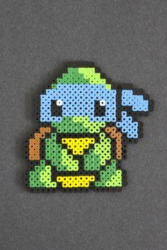 Leonardo perler bead sprite