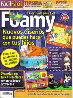 Manualidades para niños con foamy