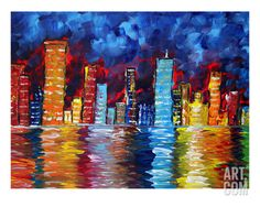 City Nights Giclee Print by Megan Aroon Duncanson at Art.com
