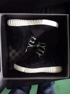 1e1c78be89658 Authentic Adidas Yeezy 750 Boost Black