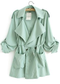 Mint Trench Coat for Spring!