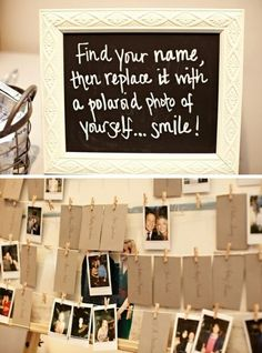 find your name and replace with a Polaroid of yourself