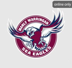 Manly Warringah Sea Eagles Logo | Logos Rates | Images Wallpapers | Pinterest | Eagles, Logos ...