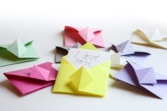 Origami envelope for little notes