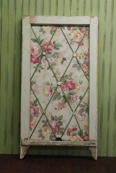 Repurposed  Window Memo Board Cottage Chic by hauteGREENhutch