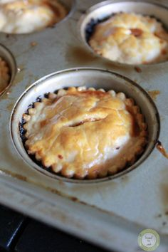 Muffin Pan Mini Apple Pies | Knead to Cook. This is better! Fuji apples and a lovely pastry lid.