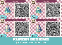A little rusty but managed to whip these up. Some pastel themed clothing, with more emphasis on blue. Will make color alternates eventually. animal crossing new leaf qr code acnl