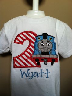 Hey, I found this really awesome Etsy listing at https://www.etsy.com/listing/190642439/thomas-the-train-number-t-shirt