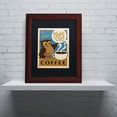 'Night Owl Blend Coffee' by Anderson Design Group Framed Graphic Art