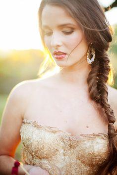 Fishtail Braid Wedding Hair