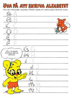 Alfabetet - Bamse.se Teacher Education, School Teacher, Learning The Alphabet, Kids Learning, Learn Swedish, Educational Activities For Kids, Back 2 School, Preschool At Home, Play To Learn