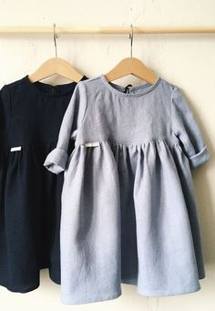 Little Girls Handmade Linen Dresses | TinyStoriesClothes on Etsy #KidsFashionOutfits