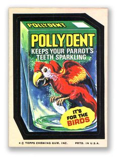Topps Wacky Packages  12th Series 1975 POLYDENT