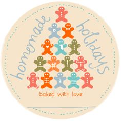 Gingermen Tree Printable Gift Tag - Free to download and print.