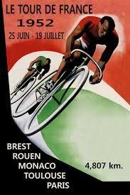 tour de france poster - 1952