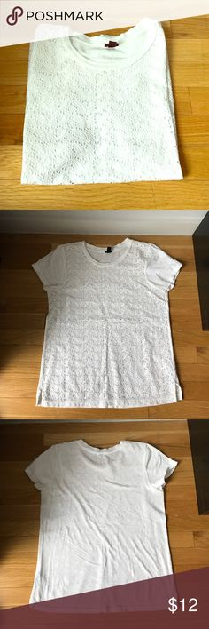 JCREW Eyelet Tshirt Crew Neck Line. 100% cotton. Eyelets are see through. J. Crew Tops Tees - Short Sleeve