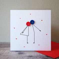 Are you interested in our Button couple kissing anniversary card? With our Romantic Valentines Day c Cricut Anniversary Card, Anniversary Cards For Couple, Happy Anniversary Cards, Diy Wedding Anniversary Cards, Handmade Anniversary Cards, Aniversary Cards, Anniversary Funny, Paper Cards, Diy Cards