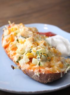 Bakt søtpotet med ost og mais | Sunnere Livsstil
