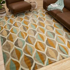Mohawk Home Julian Ogee Multi Area Rug (5' x 8') | Overstock.com Shopping - The Best Deals on 5x8 - 6x9 Rugs