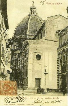 before 1887: the face of the Duomo as it appeared before 1887, year of the inaugutration of hte new face!