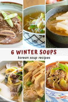 These soups will not only warm you up but also help you stay healthy. Some soups are packed with Vitamin C which is great for colds! Korean Soup Recipes, Asian Recipes, Healthy Recipes, Ethnic Recipes, Asian Foods, Korean Dishes, Korean Food, Slow Cooker Recipes, Cooking Recipes