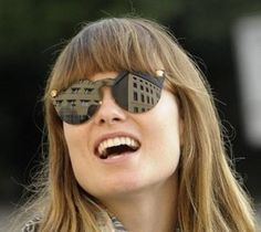27ea824625d What sunglasses does OLIVIA WILDE wear  Olivia Wilde is rockin  the Versace  cat eyed sunglasses