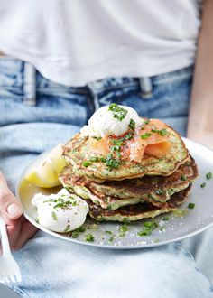 I Quit Sugar recipe: Chive, Kale, Parmean Pancakes from the IQS Breakfast Cookbook