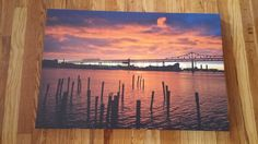 Professional Canvas.  Size: 30 X 20 inches.  This picture was taken overlooking the Tobin Bridge during one of my all-time favorite sunsets. The contrast between dark and light colors was amazing. It showed that even the sky reveals its colors during the New England autumns.  IG: @burnsobright11 website: www.burnsobright.com