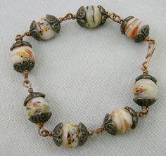 Vintage Bead Bracelet  VERY Old Beads with by JewelryArtistry