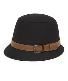 Take a look at this Black & Tan Buckle Bucket Hat on zulily today!