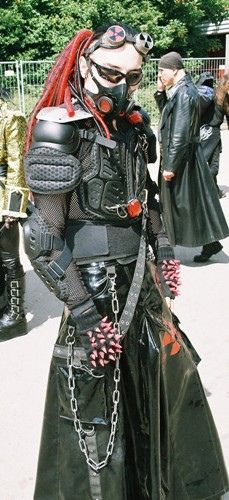 Cyber Goth in Red AWESOME!