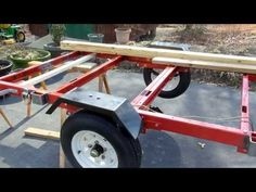 """Harbor Freight 1720 Lb. Capacity 48"""" x 96"""" Super Duty Utility Trailer Build Out - YouTube"""