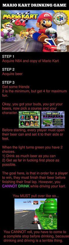 Mario Drinking Game