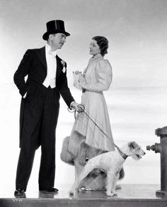 William Powell and Myrna Loy with Asta