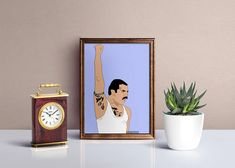 Freddie Mercury Digital Art Print for him, for her, anniversary, birthday, christmas, mother's day, father's day, easter, unique, handmade
