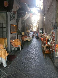 Beautiful alley ways in Sorrento, Italy.  I found the best shopping deals there!