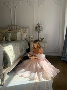 Classy Aesthetic, Aesthetic Clothes, Pretty Dresses, Beautiful Dresses, Elegant Prom Dresses, Pink Prom Dresses, Ball Dresses, Flower Girl Dresses, Quince Dresses