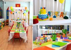 Gorgeous bright colors make this a boy's birthday to remember.