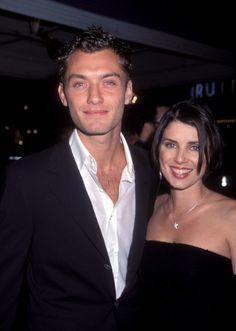 Pin for Later: You Won't Stop Smiling at These Stars' Early Red Carpet Moments Jude Law Jude and Sadie Frost (his wife at the time) oozed confidence at the premiere of The Talented Mr. Ripley in 1999.