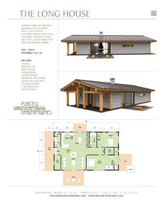 Purcell Timber Frames - The Precrafted Home Company - The Long House Prefab Full Home Package