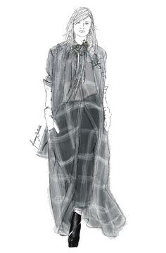 Fashion illustration - Vera Wang outfit sketch // Mairanny Batista
