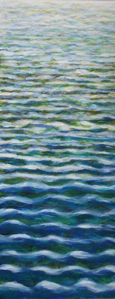 Das Meer als Acrylmalerei mit verschiedenen Schichten / acryl painting: weavy ocean made by Hermine via DaWanda.com