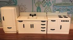 A personal favorite from my Etsy shop https://www.etsy.com/listing/288793971/ideal-kitchen-set-vintage-dollhouse