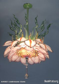 Flower Chandelier, Lindemann Glass