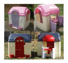 Playhouse makeover - Find an ugly playhouse on Craigslist, and turn it into something adorable....